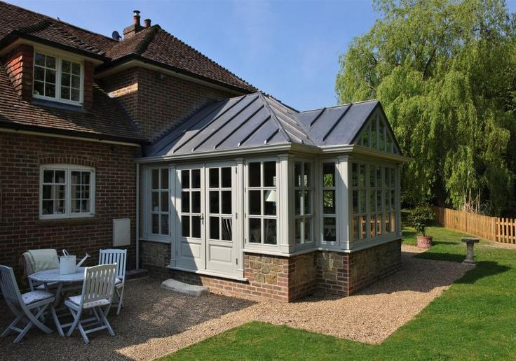 Edwardian Gable End Wooden Conservatory