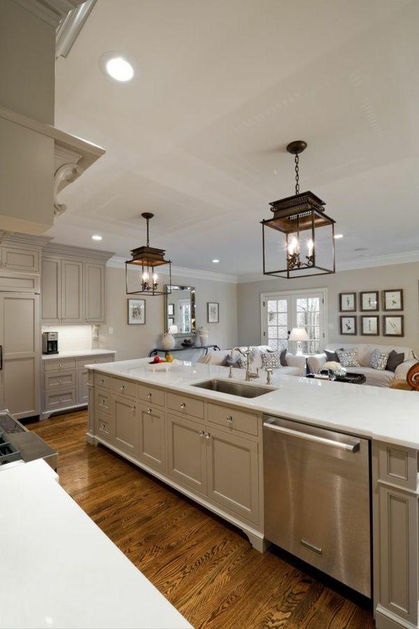 Moderne Küchen mit Kochinsel küchenblock freistehend