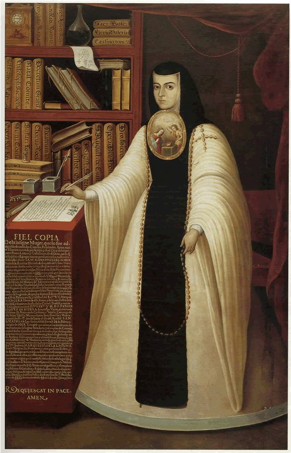 Juana Ines de la Cruz  1651-1695  Sister Juana Inés de la Cruz, O.S.H. (English: Joan Agnes of the Cross), was a self-taught scholar and poet of the Baroque school, and nun of New Spain. Although she lived in a colonial era when Mexico was part of the Spanish Empire, she is considered today a Mexican writer, and stands at the beginning of the history of Mexican literature in the Spanish language.