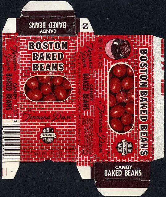 Ferrara Pan - Boston Baked Beans two-sided candy box - 1970's by JasonLiebig, via Flickr