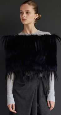 Scanlan Theodore Toscana Cold Shoulder Cape & Wool Terry Skirt