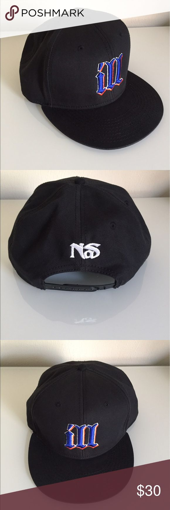 Nas Hat Part of deluxe package from Nas' Life Is Good album release. Great condition. Never worn. One size snapback. Accessories Hats
