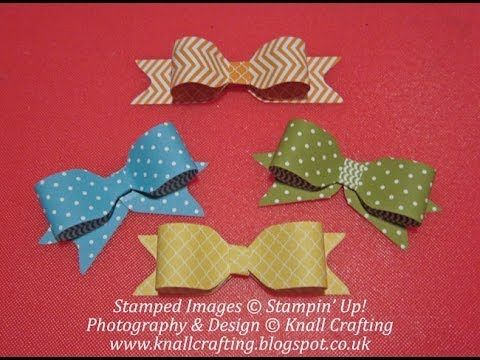 Stampin Up Punch Board Bows - YouTube
