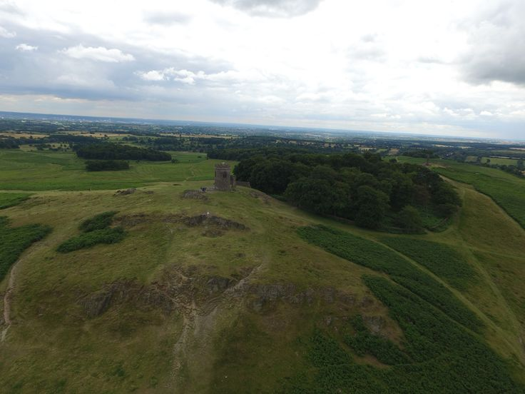 A beautiful landscape aerial shot of Leicestershire's Bradgate Park