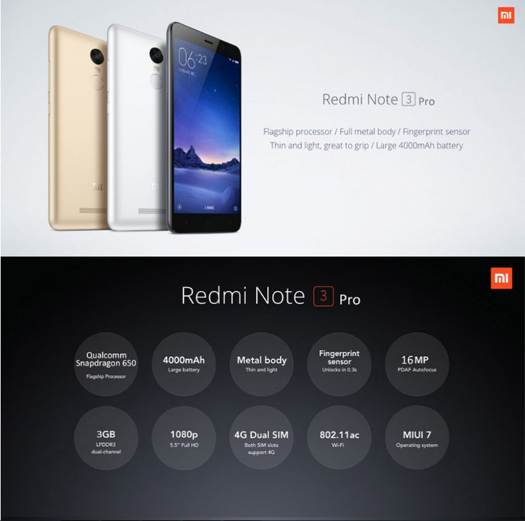 XIAOMI Redmi Note 3 Pro 32GB ROM 4G Phablet  -  SILVER 5.5 inch Android 5.1 Qualcomm Snapdragon 650 64bit Hexa Core 1.8GHz Fingerprint ID 3GB RAM 16.0MP + 5.0MP Cameras FHD Screen #phone #mobile #gadgets #CellPhones #smartphones #Electronics @gadgetsone