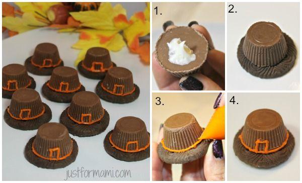 Día de Acción de Gracias: Sombreros de peregrino