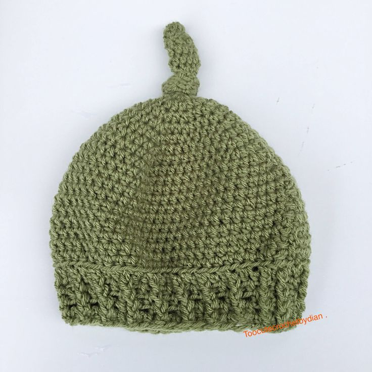 crochet top knot beanie, new born baby boy beanie, toddler beanie, adult beanie, winter accessory, hat with wooden button, green crochet hat by Toocutecrochetbydian on Etsy