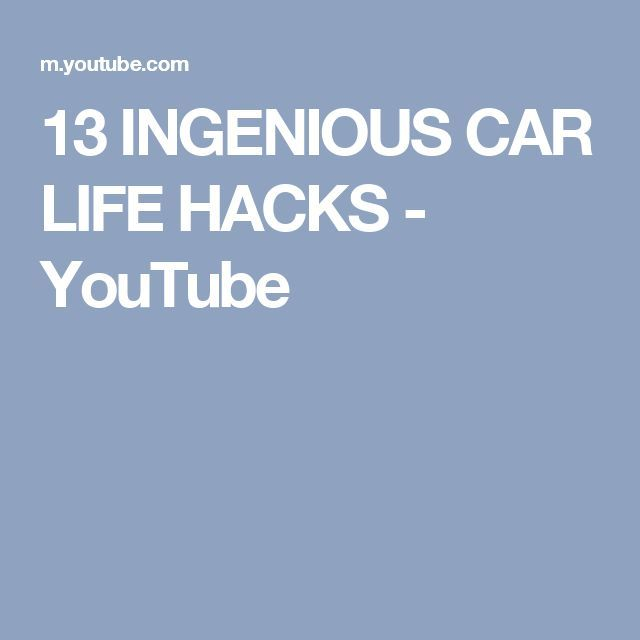 Cool Cars hacks 2017: 13 INGENIOUS CAR LIFE HACKS - YouTube...  Projects to Try Check more at http://autoboard.pro/2017/2017/04/02/cars-hacks-2017-13-ingenious-car-life-hacks-youtube-projects-to-try/