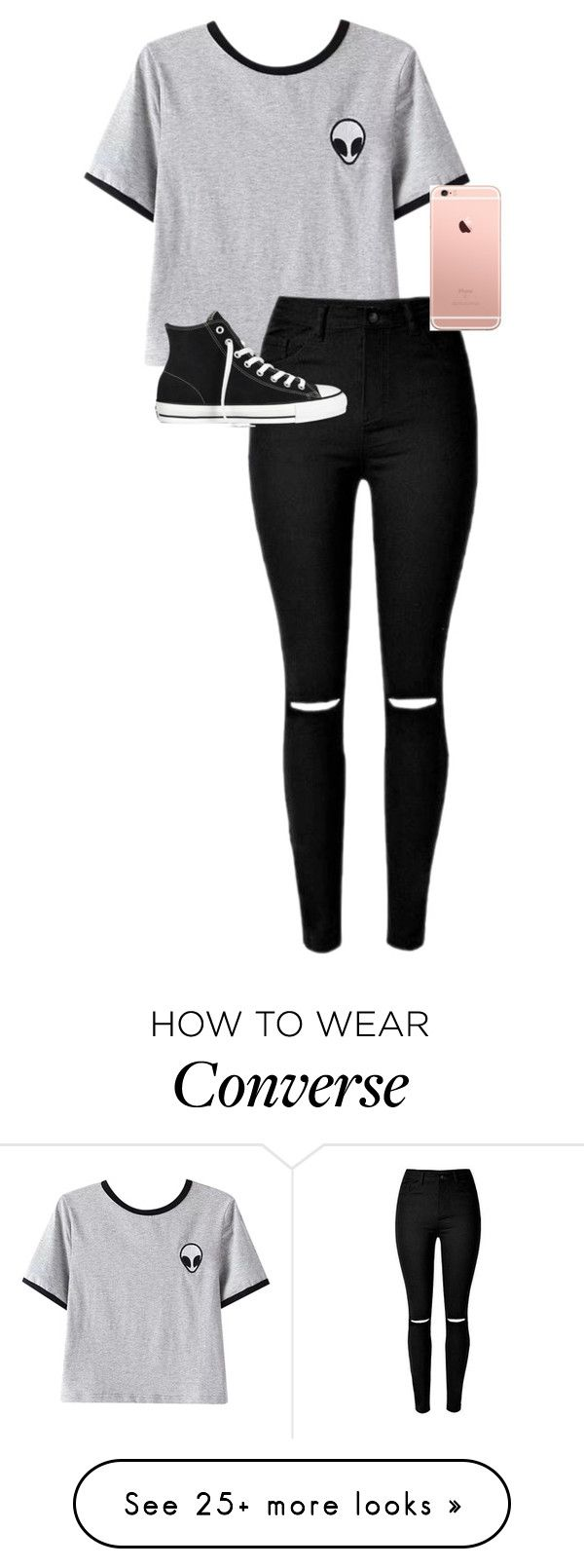 """""""././../././///////.."""" by anna-mae-equils on Polyvore featuring Chicnova Fashion, Converse, women's clothing, women, female, woman, misses and juniors"""