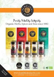 Hambleden herbs - organic spices and teas from UK. Launched these to Finland on 2011.