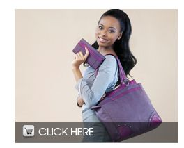 THIS PURPLE BAG & PURSE in the JULY 2013  BROCHURE Contact me 0823060929, and i will forward you our online monthly brochure for all the lastest JUSTINE Cosmetics.    Anita Hill