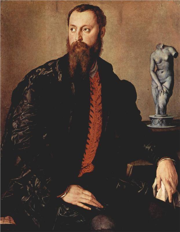 Portrait of a gentleman - Agnolo Bronzino, c.1552 Find the best #Art installations in New York with www.artexperience...