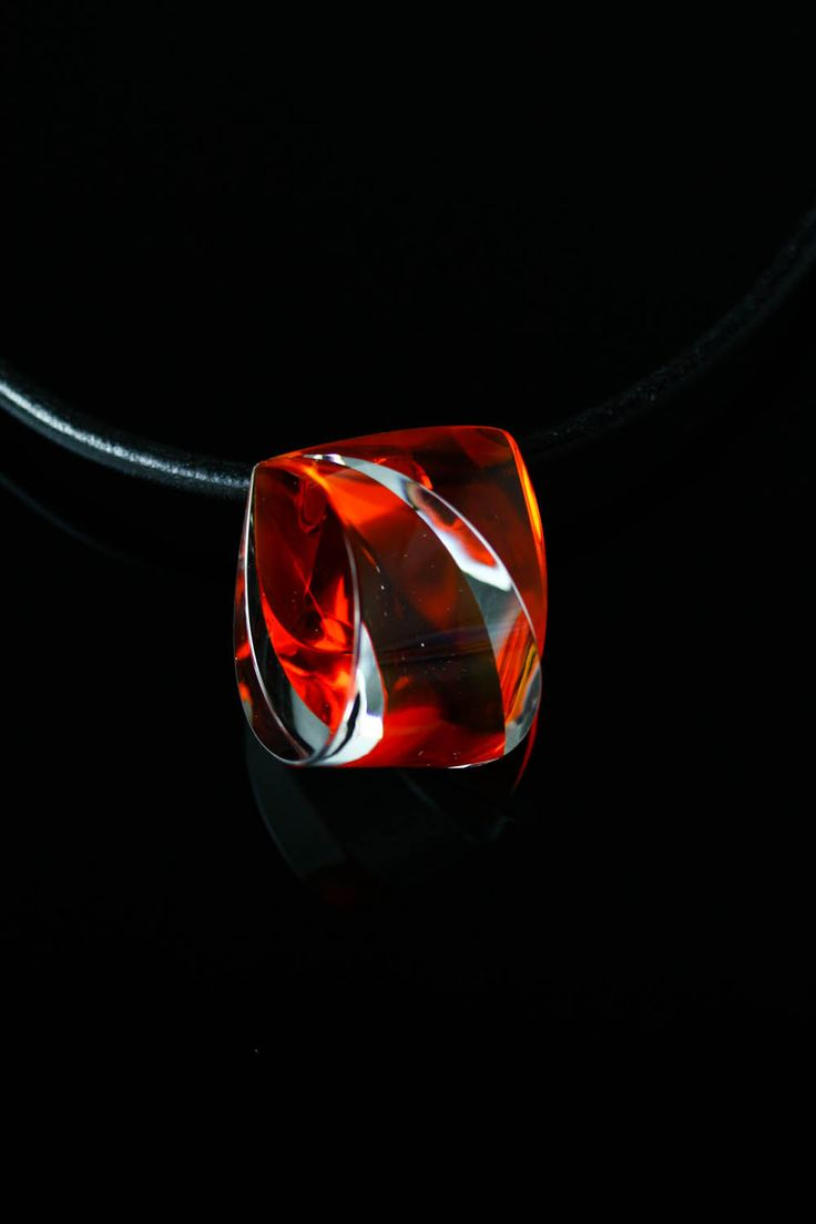 Handmade Glass Red Necklace by Ondřej Oliva - FREE SHIPPING by OlivaGlass on Etsy
