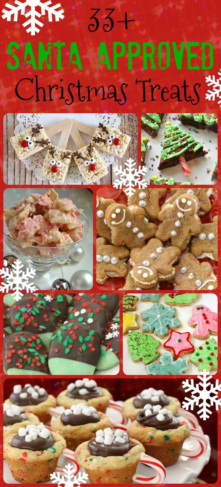 33+ Santa Approved Christmas Treats - a fun roundup of simple, easy holiday recipes that everyone enjoys! Great desserts from- Butter With A Side of Bread