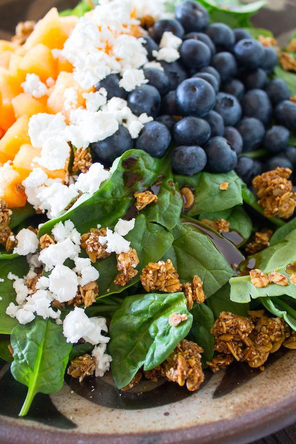 Summer Breeze Salad with Granola Croutons | crunchy, savory, sweet.