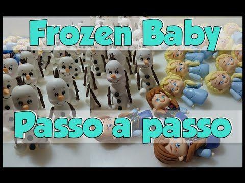 Olaf, Anna e Elsa tema Frozen baby passo a passo parte 1