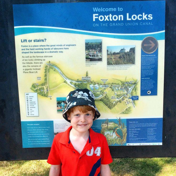 Ben at Foxton Locks,Grand Union Canal.