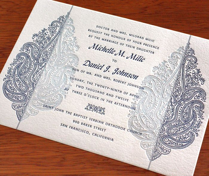 71 best paper images on pinterest wedding invitation birthdays sunita letterpress wedding invitation by invitations by ajalon stopboris Image collections