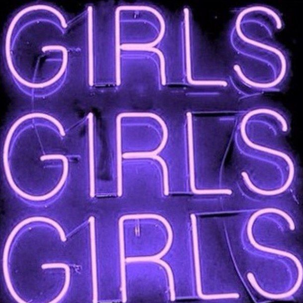 aesthetic, bright, girls, neon, purple, sign, texture, tumblr ...