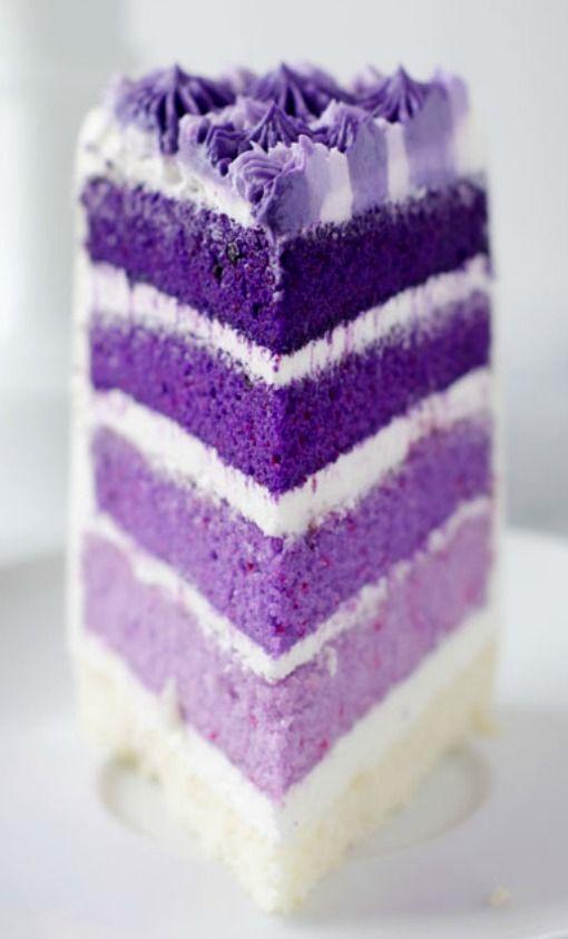 Purple Velvet Wedding Cake