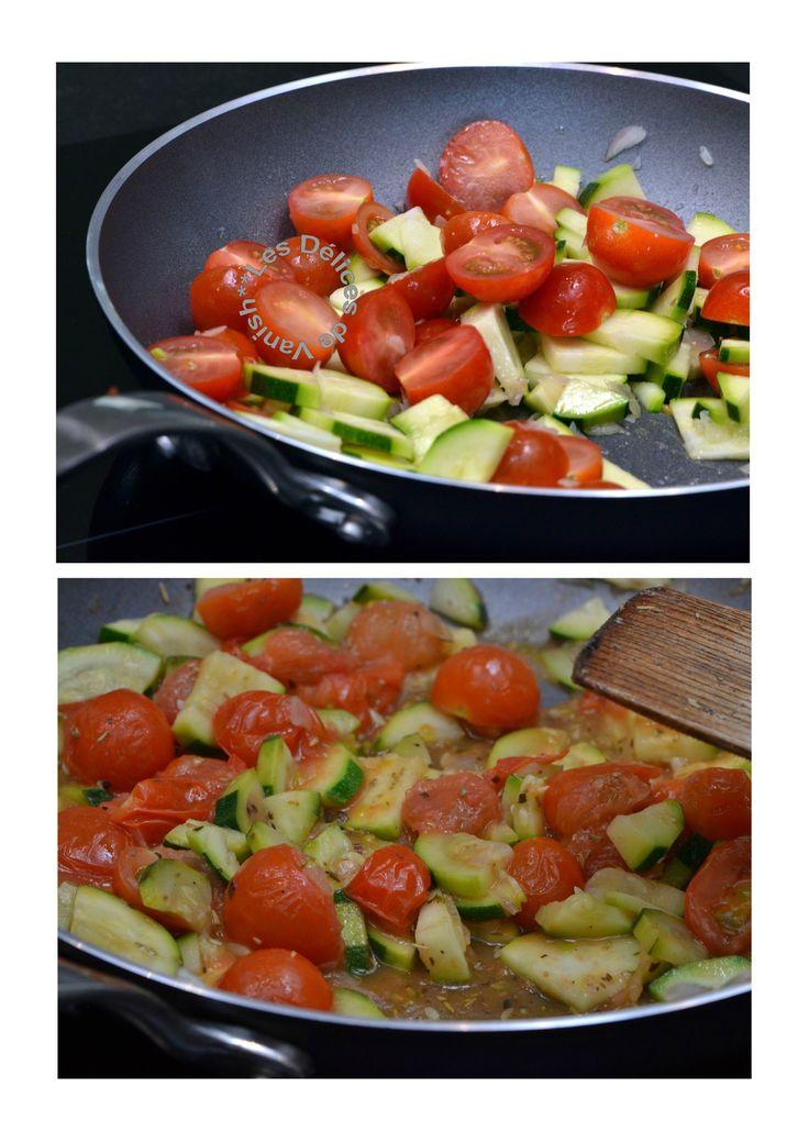 poelée, légumes, courgette, tomates cerises