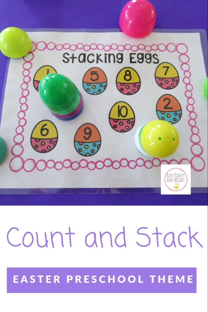 Easter Egg Count and Stack