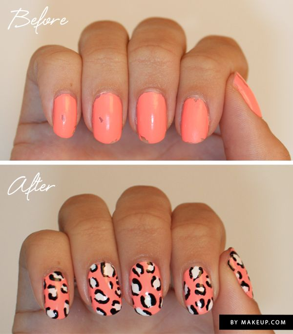 How to give chipped nail polish a makeover // can't get over this!