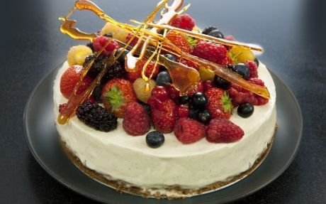 Honey and Vanilla Cheesecake by Andy Bates @FoodNetwork_UK