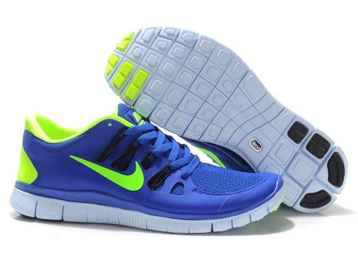 Herren Nike Free Run 5.0 Schuhe Konigsblau Grun
