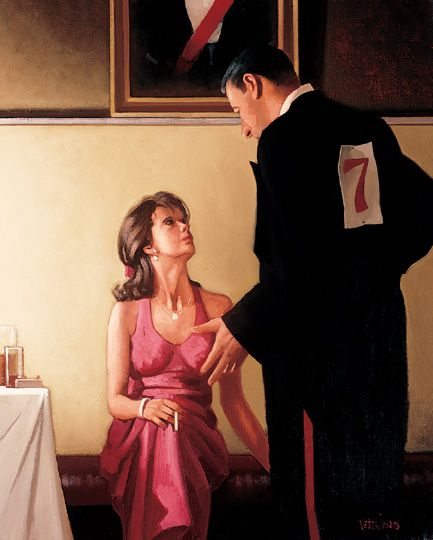 Jack Vettriano Defending Champions oil painting for sale