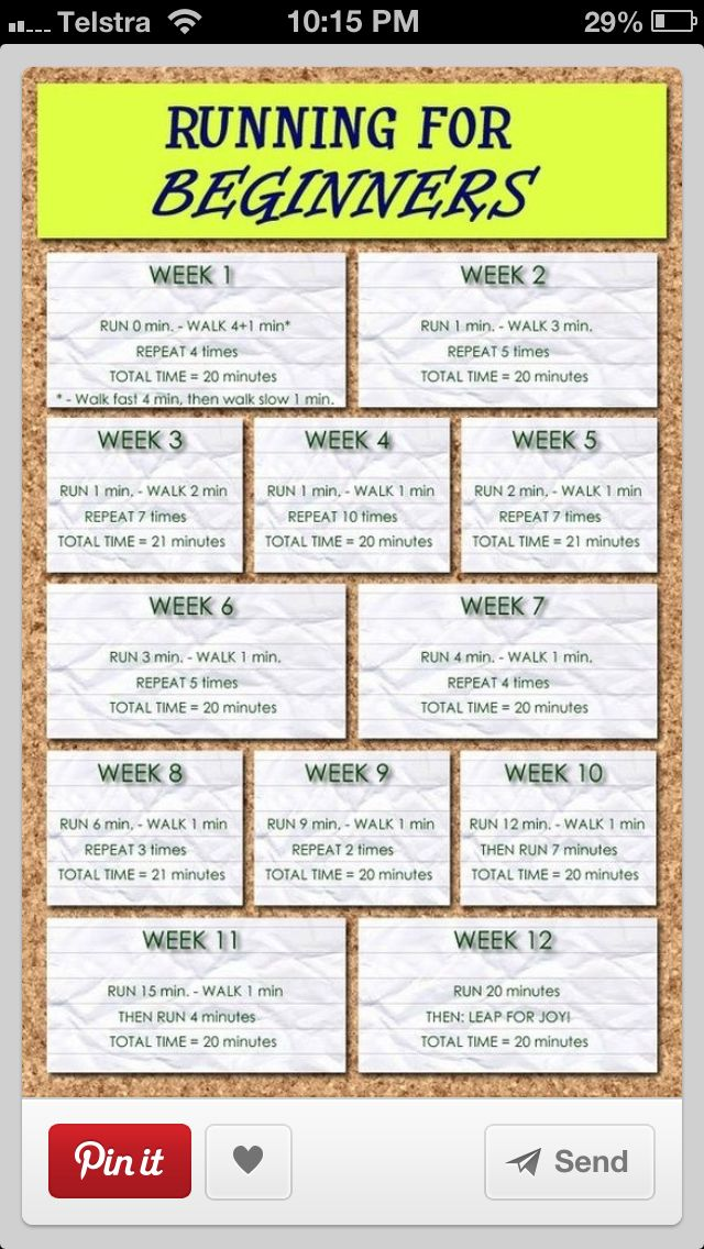 12 weeks  20min Running Challenge Hope I can do this!!