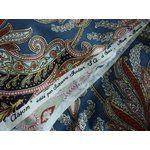 Image 1 Vintage Paisley SUZANNE FONTAN Cotton FABRIC 2.7m 1940s