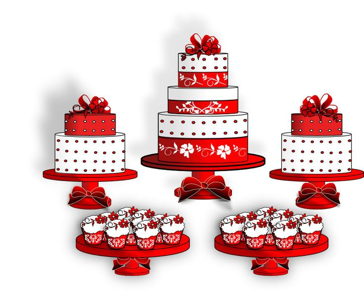 Red Cake Clipart : 17 Best images about Wedding Ideas: Red on Pinterest ...