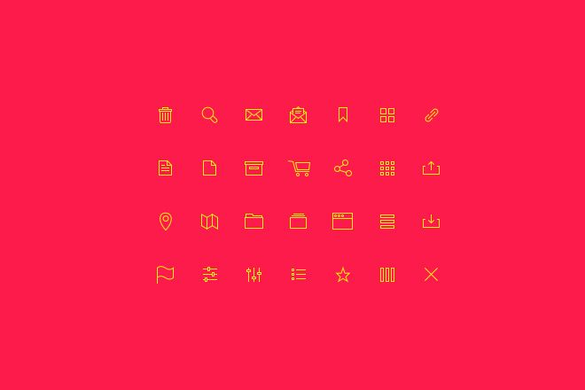 Yellow Icons Free PSD Download - Web Design Hood