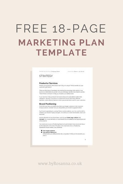 Best  Marketing Plan Template Ideas On   Digital