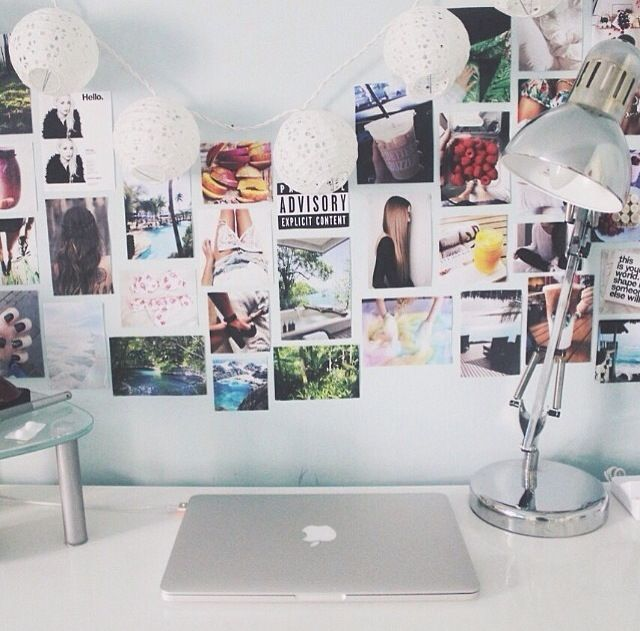 ~ love this wall space/ workspace.. especially the little lanterns #UOonCampus #UOContest