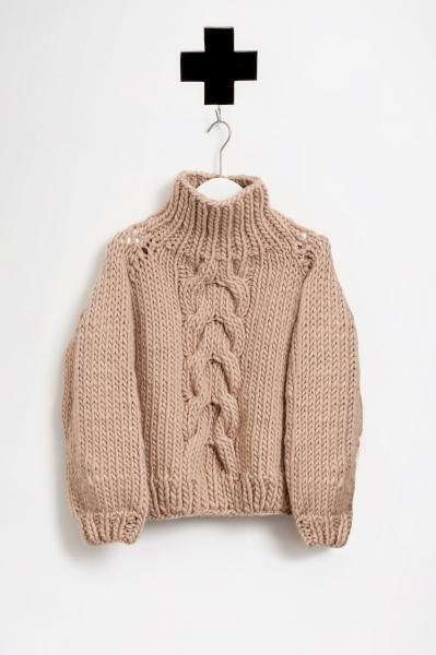 ILOVEMRMITTENS / THE  CROPPED CABLE KNIT SAND AW 15-16 / ordershop@humanoid.nl