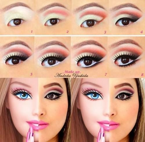 Barbie makeup <3
