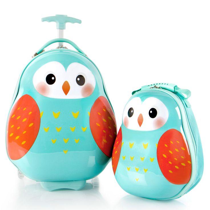 Heys Kids Travel Tots Kindertrolley 46 cm 2 Rollen mit Rucksack Owl #kinderkoffer #eule #kinder