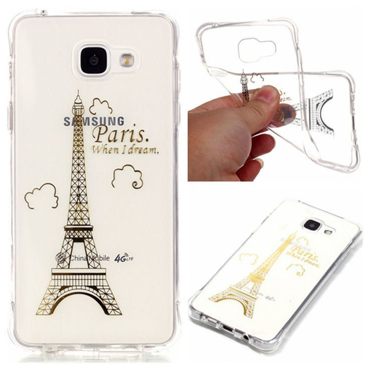 Transparent Soft TPU Classic paris tower Rose flower elephant Phone Case Coque For Samsung Galaxy A3 2016 A5 2016 Back Cover //Price: $9.95 & FREE Shipping //     #hashtag4