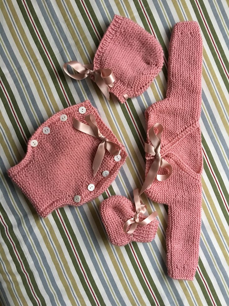 Conjunto rosa de bebe