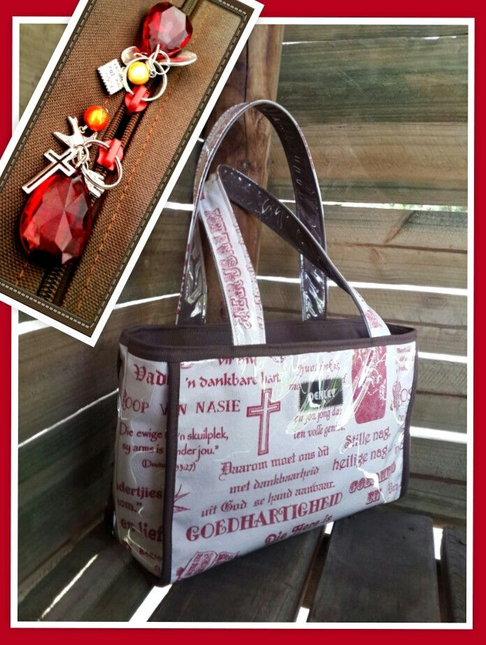 Https://facebook.com/oehleyhandbagsgift - red christian words handbag.