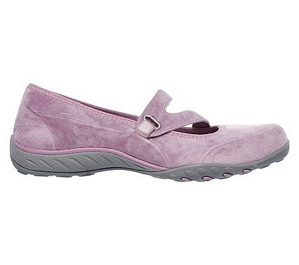 Skechers Women's Breathe Easy Lavish Days Relaxed Fit Mary Jane Flat Shoes (Rose/Pink)