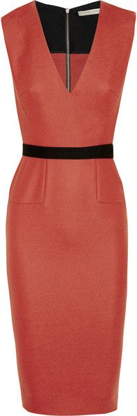 Belted Stretch Woolblend Dress VB -- GREAT lines!!!  Great on most figures too!