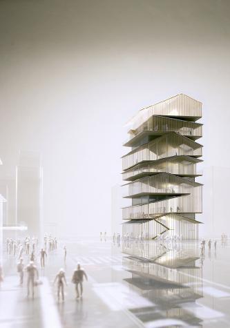 浅草文化観光センター  : 屋根を積層させた塔状建築