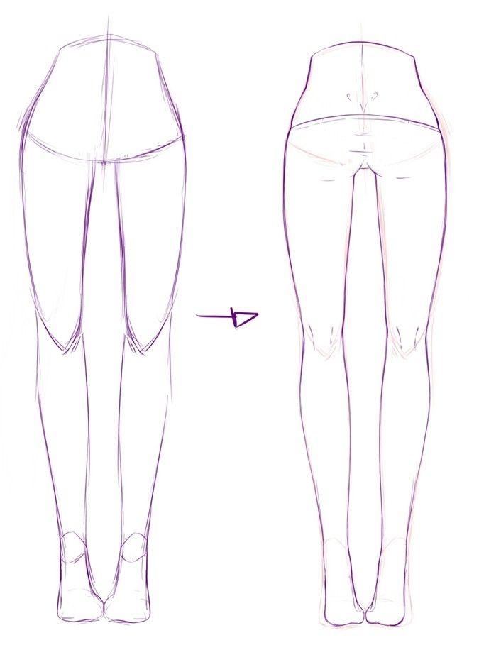 how to draw manga legs