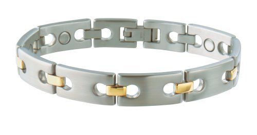 Sabona 35275 Executive Regency Duet Magnetic Bracelet, Large by Sabona. Save 61 Off!. $28.99. 1200 gauss magnet strength. About the Brand                Sabona manufactures and markets fine copper and magnetic bracelets worldwide. Established in 1959, Sabona has offices in England and in the United States, and is internationally recognized as the premier marketer of copper and magnetic bracelets due to strict standards of quality and fine craftsmanship. The Copper Theory Various form...
