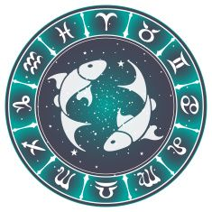 Pisces zodiac sign , vector illustration vector art illustration