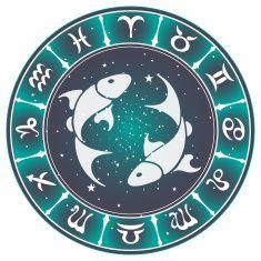 Pisces zodiac sign , vector illustration vector art illustration