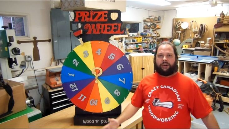 How To Make A Prize Wheel: Prize Spinner | Cool woodworking projects | Pinterest | Prize wheel ...